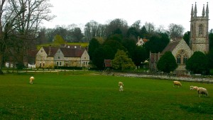 "Chawton House Library, Church, and ""Barn"""