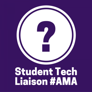 Icon for Student Tech Liaisons: Circle with a Question mark