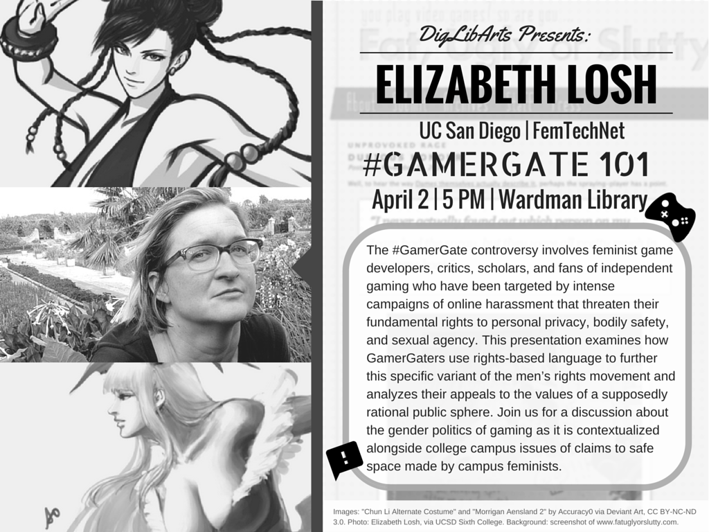 Gamer Gate talk flier